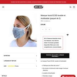 Masque facial EC3D lavable et réutilisable (paquet de 2) – EC3D Sports FR