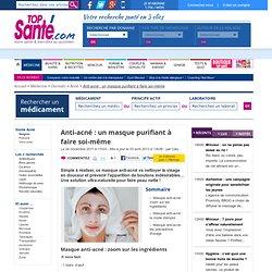 Anti-acné : un masque purifiant à faire soi-même