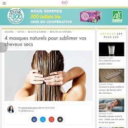 4 masques naturels pour sublimer vos cheveux secs
