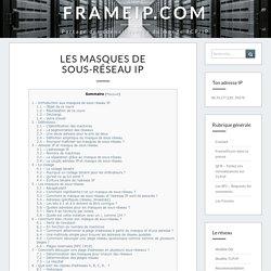 Les masques de sous-réseau IP - FRAMEIP.COM