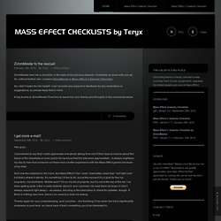 Mass Effect Checklists by Teryx