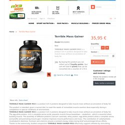 Mass gainer MX3 - Prise de mass musculaire