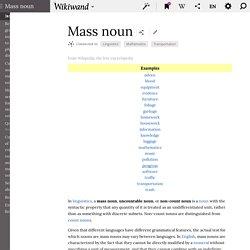 Mass noun