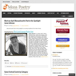 Mass Poetry - Massachusetts Poetry Festival - Poetry Outreach |