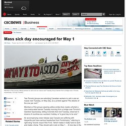 Mass sick day encouraged for May 1 - Business