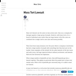 Mass Tort Lawsuit