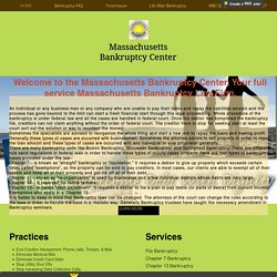 Massachusetts Bankruptcy Lawyers