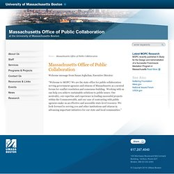 Welcome to The Massachusetts Office of Dispute Resolution