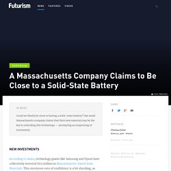A Massachusetts Company Claims to Be Close to a Solid-State Battery