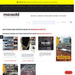 Estate Sales in Boston, Massachusetts, USA, Online Auctions & Downsizing - MaxSold