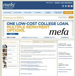 Student Savings, Loans & 529 College Plan | MEFA - Massachusetts Educational Financing Authority