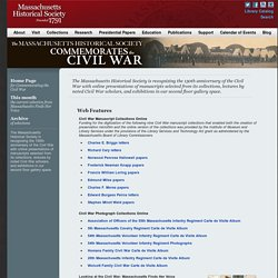 Massachusetts Historical Society: Civil War