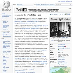 Massacre du 17 octobre 1961