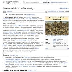 Massacre de la Saint-Barthélemy