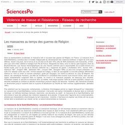 Sciences Po Violence de masse et Résistance - Réseau de recherche