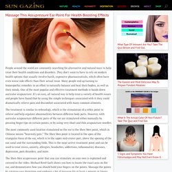 Massage This Accupressure Ear Point For Health Boosting Effects