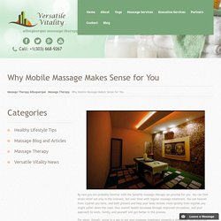 Mobile Massage Therapy in Albuquerque