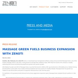 Massage Green Fuels Business Expansion With Zenoti