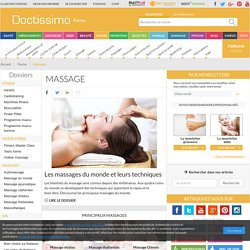 Massage - Tous les massages avec Doctissimo