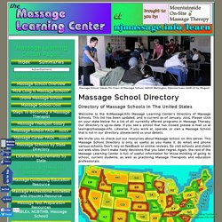 Massage School Directory