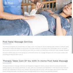 Post natal massage home services during confinement