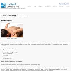 Massage Therapy Calgary