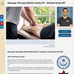 Michael Read LMT - Massage Therapist in NY