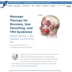 Massage Therapy for Bruxism, TMJ Syndrome