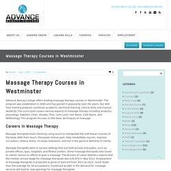 Massage Therapy Courses in Westminster