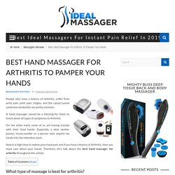 5 Best Hand Massager For Arthritis To Pamper Your Hands