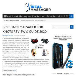 Best Back Massager for Knots REVIEW & GUIDE 2020