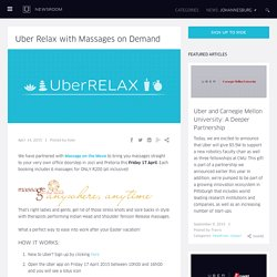 Uber Relax with Massages on Demand