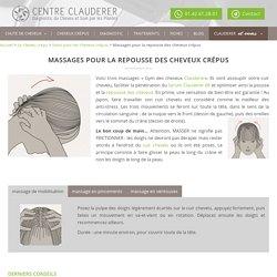 Massages pour stimuler la pousse du cheveu crépu