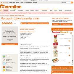 Massepain (pâte d'amandes cuite)