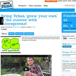 Bring Urban 'grow your own' to the masses with microgreens!