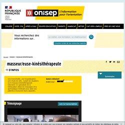masseur / masseuse-kinésithérapeute - Onisep
