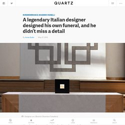 Massimo Vignelli's last grand project was his own funeral — Quartz