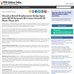 Massive Retail Deployment Helps Spur 2011 RFID Systems Revenue G