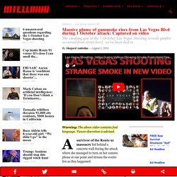 Massive plume of gunsmoke rises from Las Vegas Blvd during 1 October attack: Captured on video