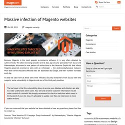 Massive infection of Magento websites