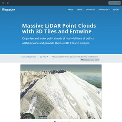 Massive LiDAR Point Clouds with 3D Tiles and Entwine