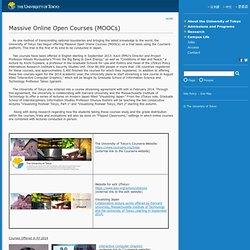 Massive Online Open Courses (MOOCs)