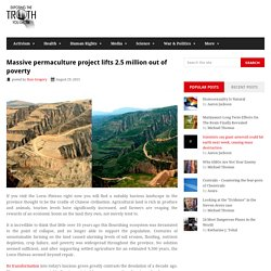 Massive permaculture project lifts 2.5 million out of poverty