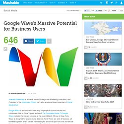 Google Wave's Massive Potential for Business Users