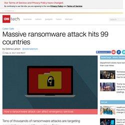 Massive ransomware attack hits 99 countries - May. 12, 2017