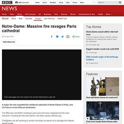 Notre-Dame: Massive fire ravages Paris cathedral