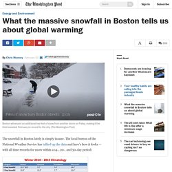 What the massive snowfall in Boston tells us about global warming