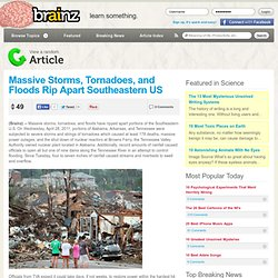 Grosses tempêtes, tornades, inondations et du Sud-Est des États-Unis déchirer