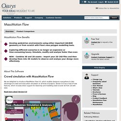 Oasys Software - MassMotion Flow: Crowd Simulation and Pedestrian Modelling Software for all users