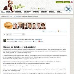 Massor av databaser och register